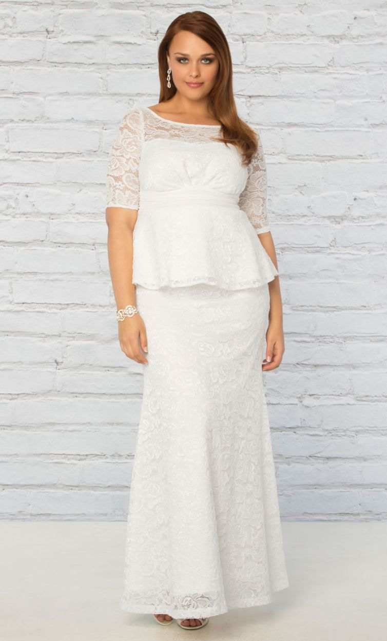 Alternative looks for the plus size bride garnerstyle for Peplum dresses for weddings