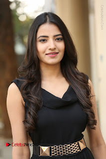 Telugu Actress Rukhsar Mir Stills in Black Long Dress at Aakatayi Movie First Look Launch  0020.JPG