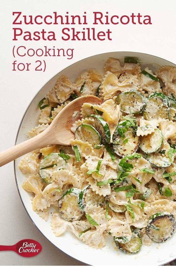 Zucchini Ricotta Pasta Skillet