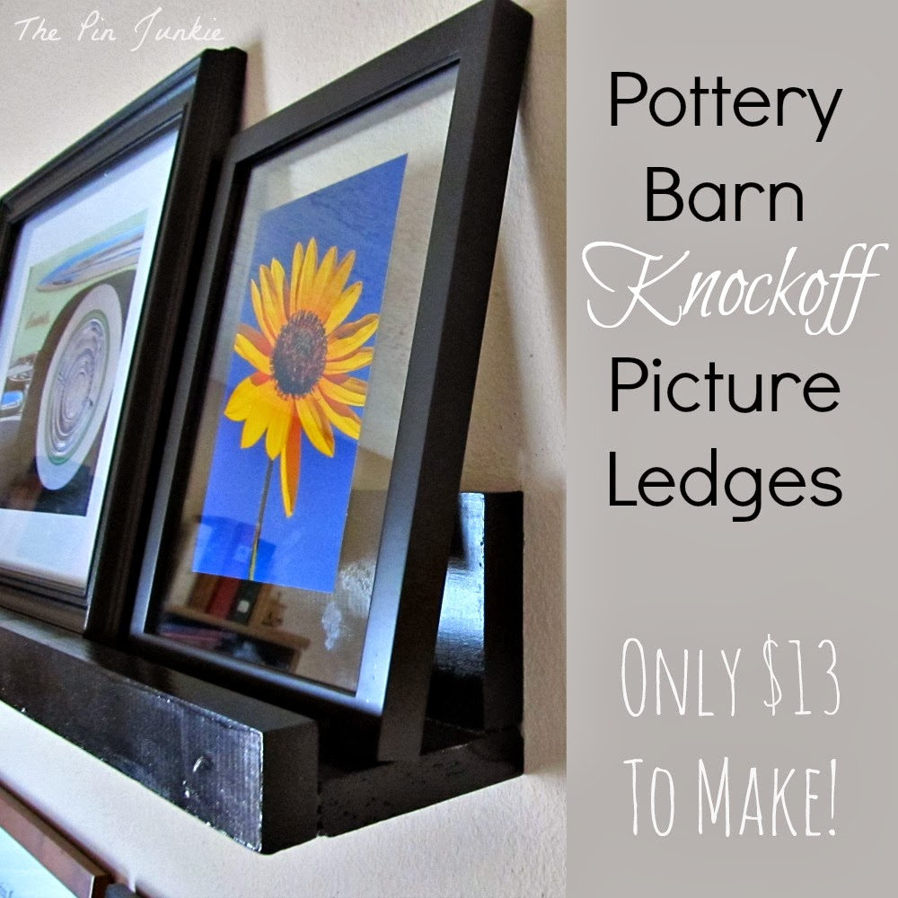 pottery barn inspired picture ledge