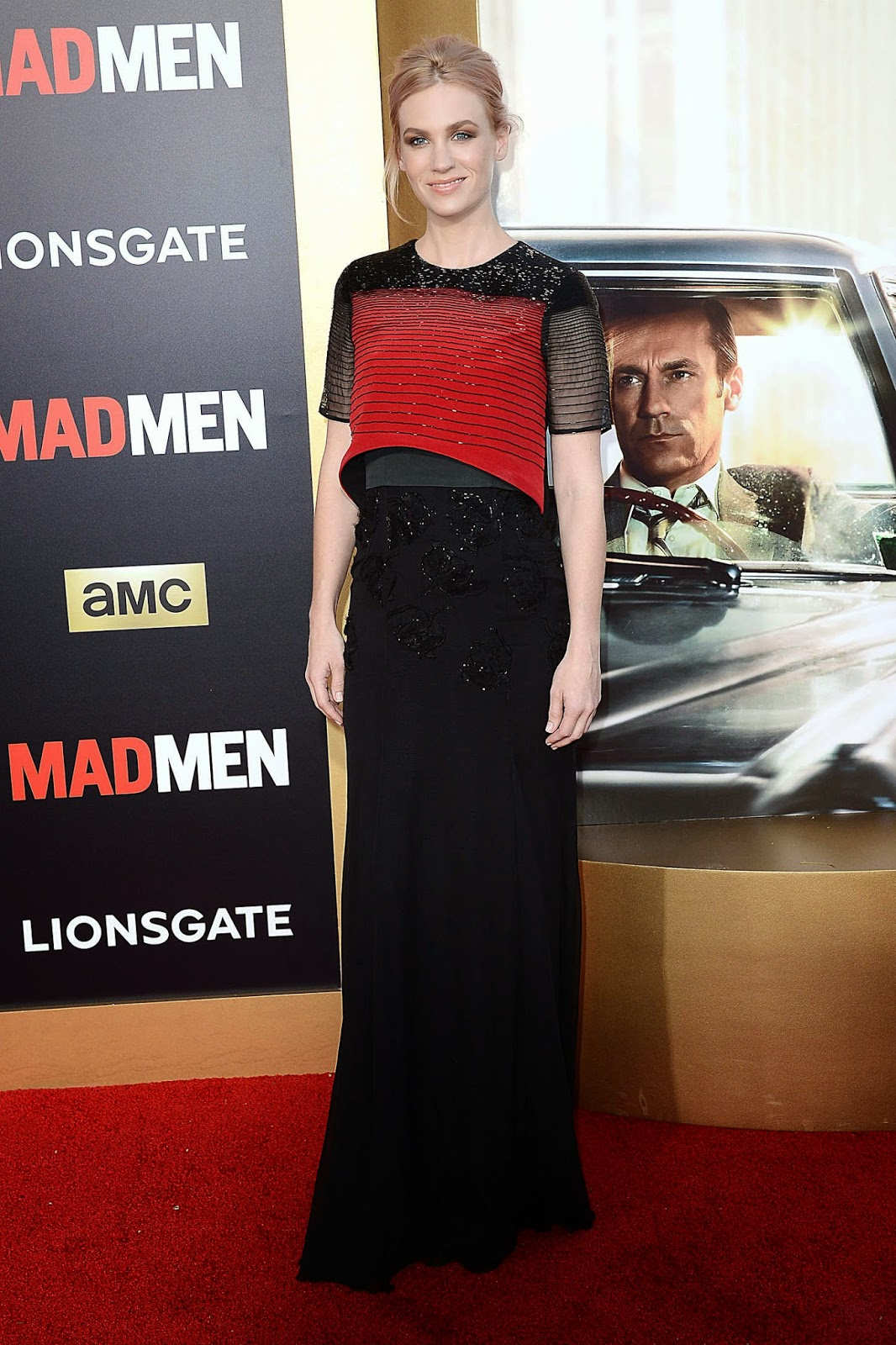 January Jones in Prabal Gurung at the AMC 'Mad Men' Black and Red Ball in LA
