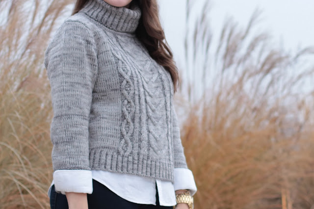 cable knit, turtleneck, sweater, asos, grey sweater