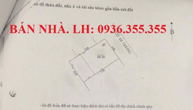 Bán nhà ngõ phố Hồ Đắc Di, Hà Nội