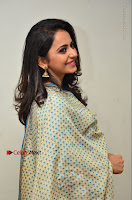 Actress Rakul Preet Singh Stills in Blue Salwar Kameez at Rarandi Veduka Chudam Press Meet  0123.JPG