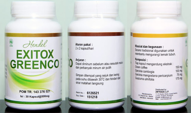 Green Coffee Exitox Greenco Penurun Berat Badan Efektif Tanpa Efek Samping