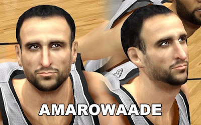 NBA 2K13 Manu Ginobili Cyberface Patch