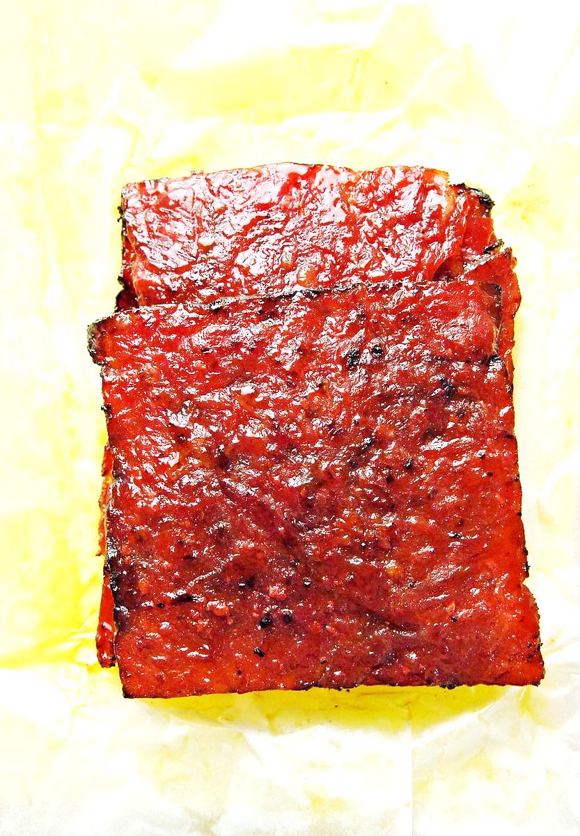 Bak Kwa (Pork Jerky), a favourite of many.