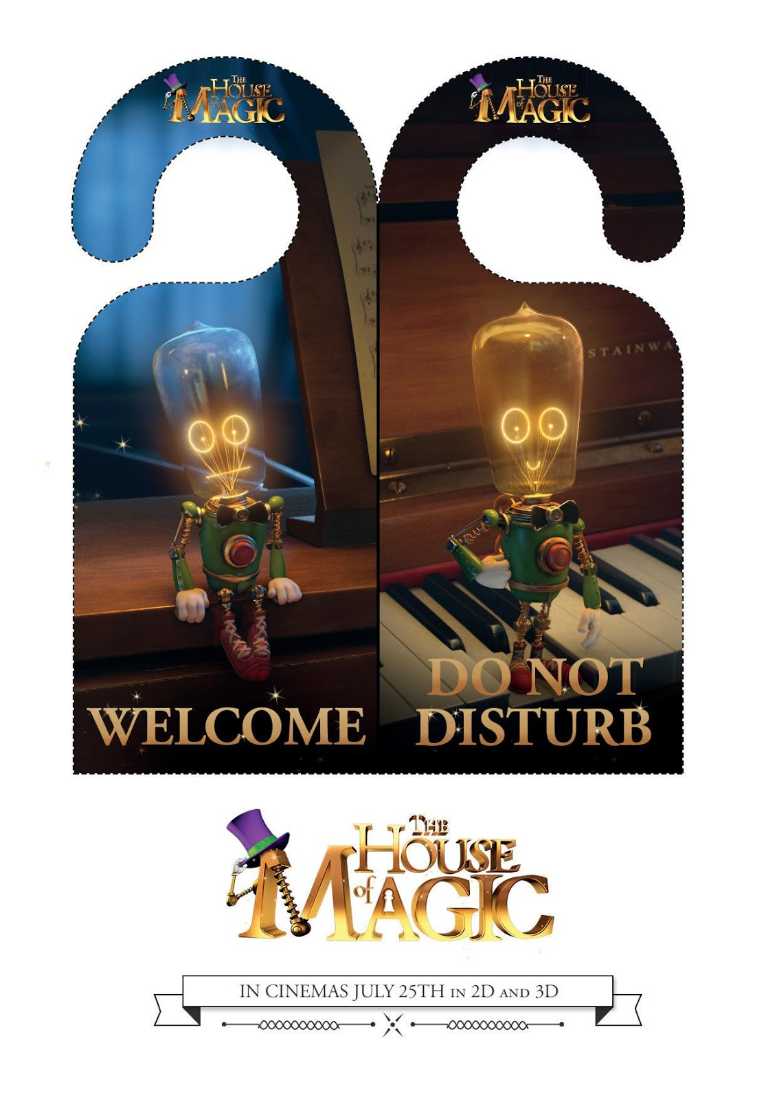 the house of magic door hangers