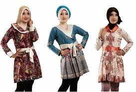 Model Baju Batik Muslim Untuk Kerja Terbaru