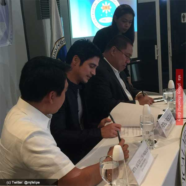 Piolo Pascual signs agreement with Optical Media Board's Ambassador