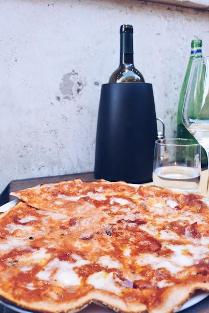 Vegaanista pitsaa Roomassa, ravintola Rifugio Romano