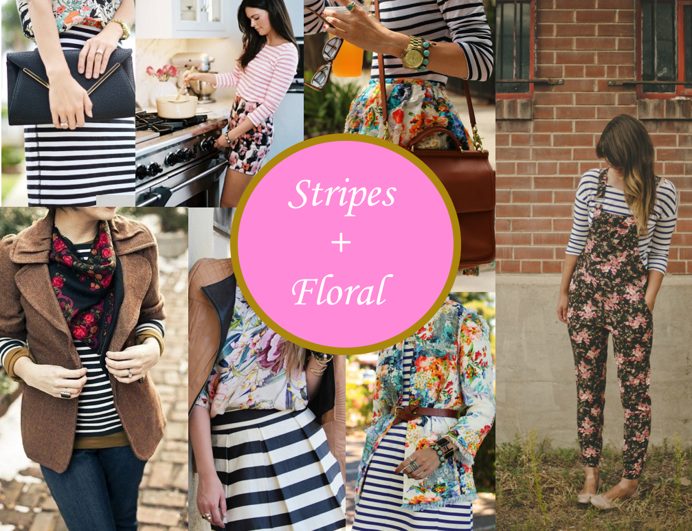 The Trendy Sparrow: Pattern Mixing: Stripes + Floral