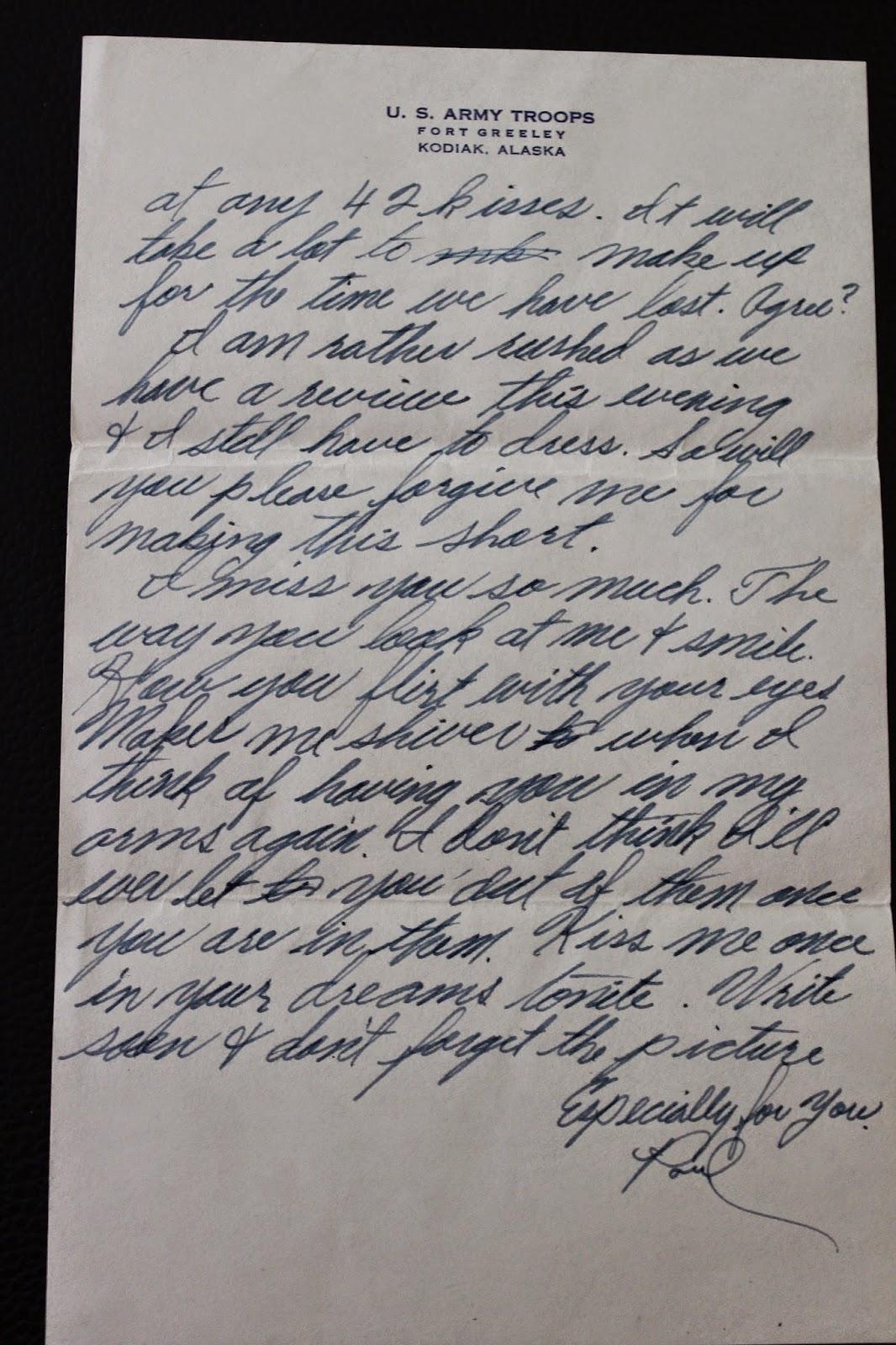 Amanuensis Monday - Alaskan Army Love - ARodesky Genealogy
