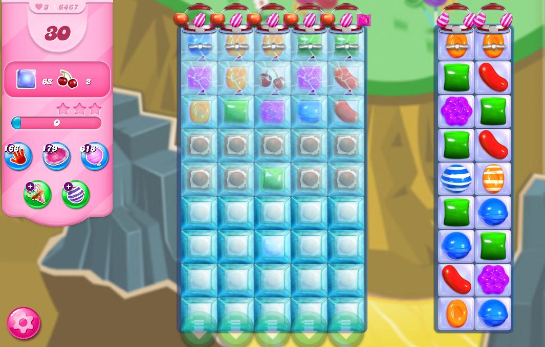 Candy Crush Saga level 6467