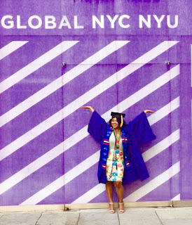 Stephanie Samedi on NYU campus