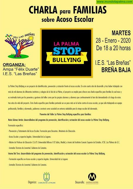"BREÑA BAJA: Charla para Familias sobre ""Acoso Escolar"""