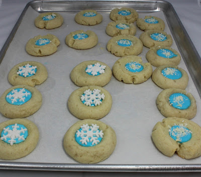 decorated, cookies, thumbprint cookies,