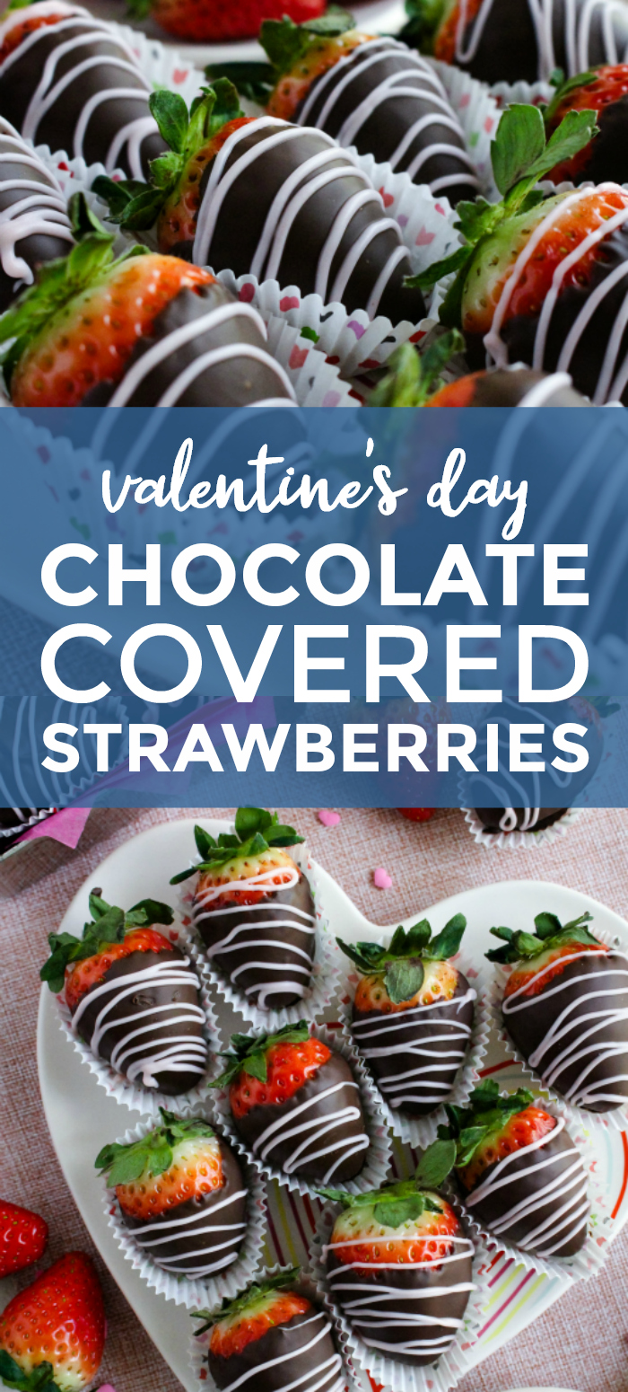Valentine's Day Chocolate Covered Strawberries | The Two Bite Club | #valentinesdaydessert #strawberries #chocolate