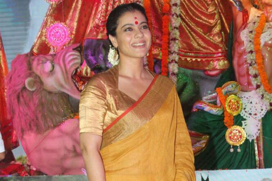 Kajol attends Durga Puja at Tulip Star Hotel In Juhu