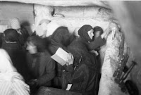 Jewish women praying at the Shimon Hatzaddik tomb (Central Zionist Archives, Harvard Library, c. 1930)