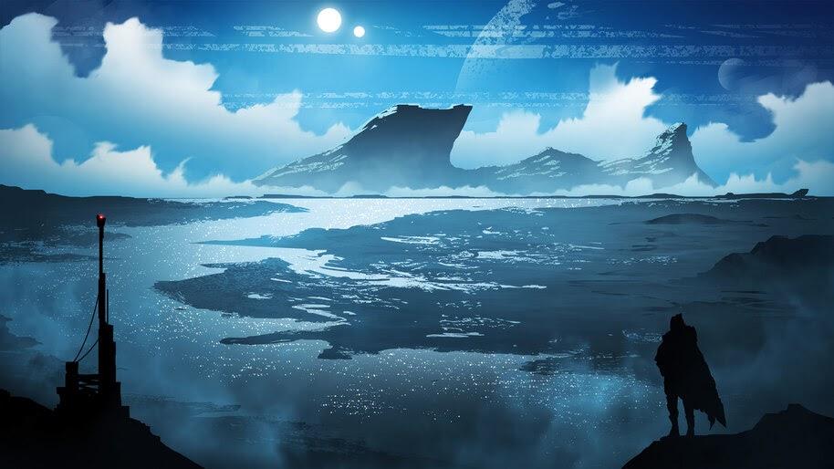 Sci-Fi, Scenery, Minimalist, 4K, #4.1020