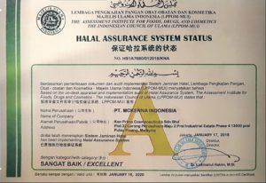 sertifikat halal nu amoorea