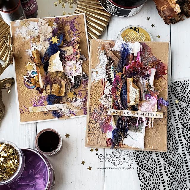 @nastyalena #postcards #mixedmedia