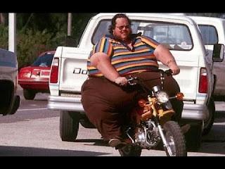 Memes de gordos y gordas causan gordura obesidad hombre obeso en moto