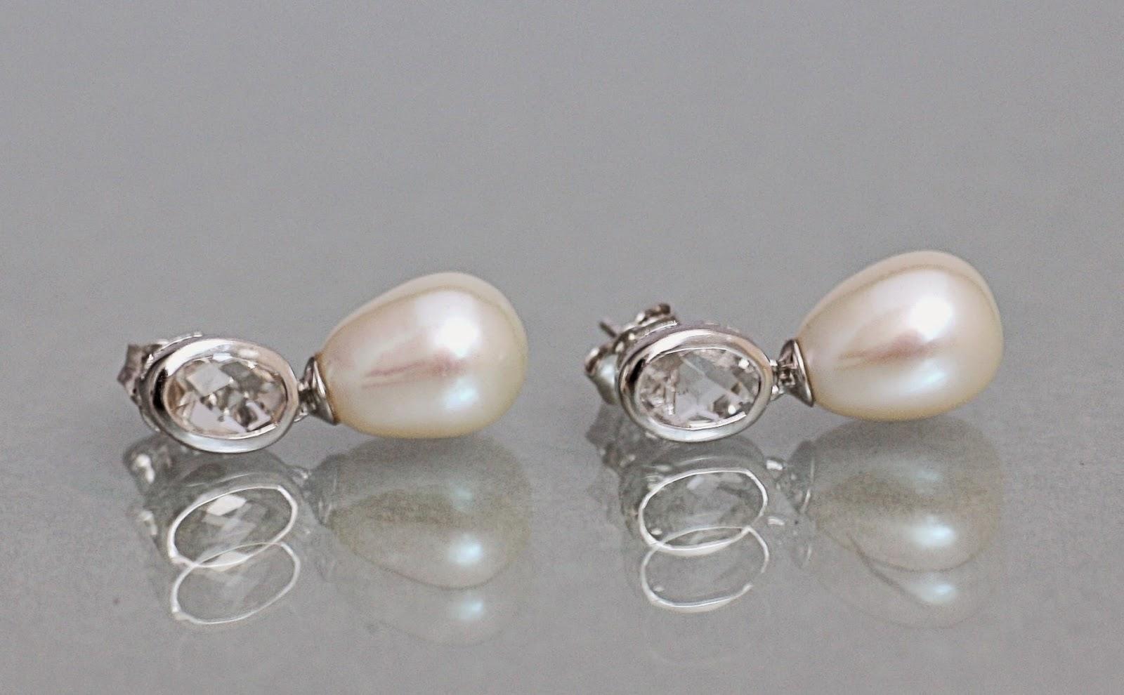 Perlenohrringe  Zuchtperlen in Farbe: PERLEN OHRRINGE
