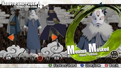 Naruto Shippuden : Ultimate Ninja Impact MOD Texture Madara Uchiha [Menma Masked] For PPSSPP Terbaru