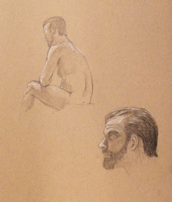 Sivitz, man, male, drawing, sketch, graphite, white charcoal pencil, figure drawing, art