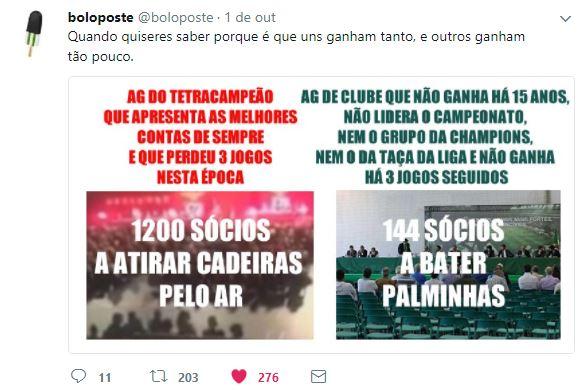 Exigência no Benfica