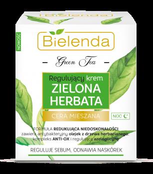 Bielenda krem regulujący na noc zielona herbata