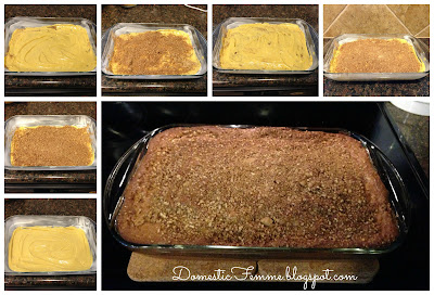 Cinnamon Coffee Cake Recipe {by Domestic Femme} #Recipes #Breakfast #Cakes #Dessert #Desserts #Brunch #Quick #Easy #Idea #Ideas #Potluck