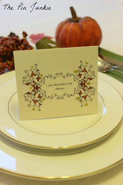 printable place card personalized