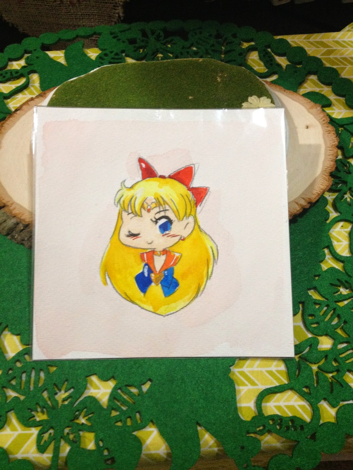 Sailor Venus Watercolor Headshot