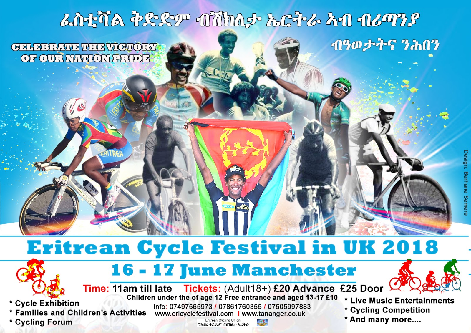 Eritrean Cycle Festival in UK 2018 - Madote