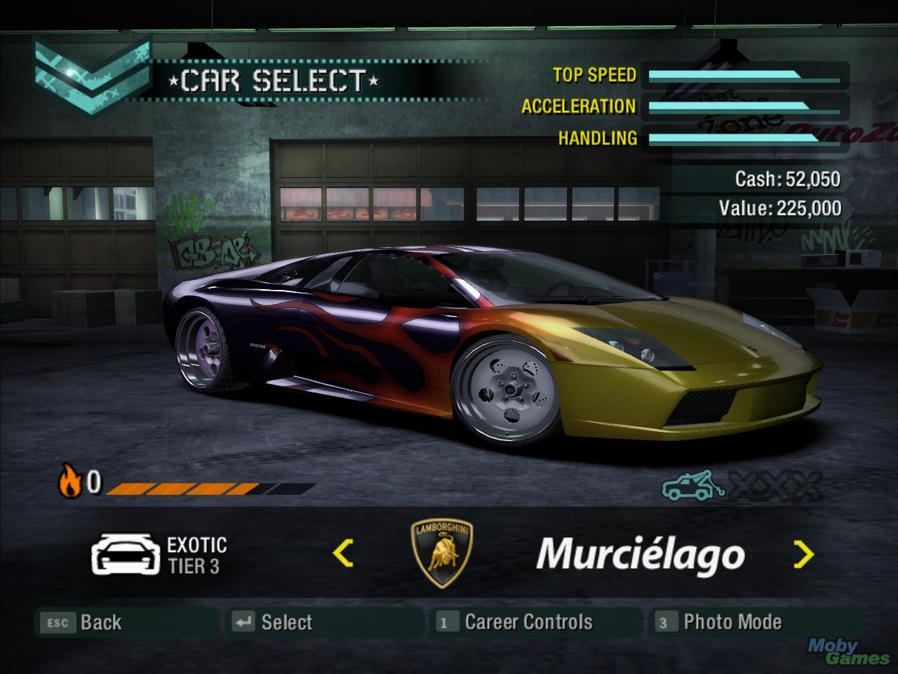 need for speed carbon psp car list