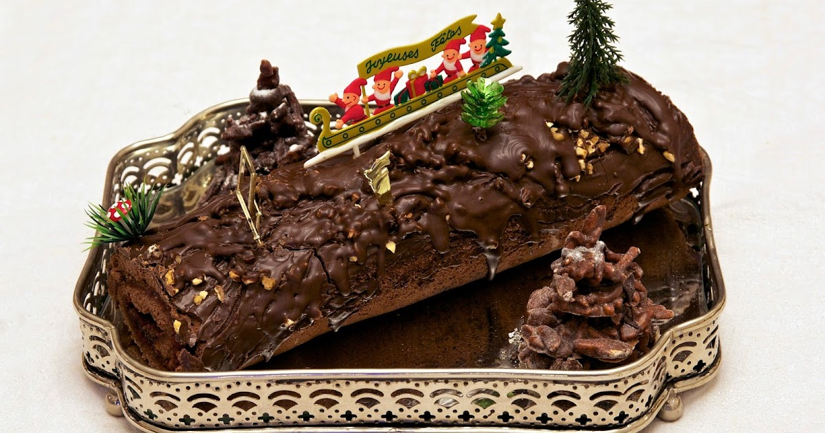 Public Domain Photos And Images Yule Log The Dessert And