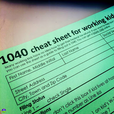 Filing taxes is so daunting! This cheat sheet helps students through the IRS 1040 form so that they can file their taxes and get the tax refund they are entitled to receive. This Free 1040 income tax cheat sheet pdf download for teaching financial literacy walks students through IRS form 1040 so that they can feel more confident filing their federal income taxes.