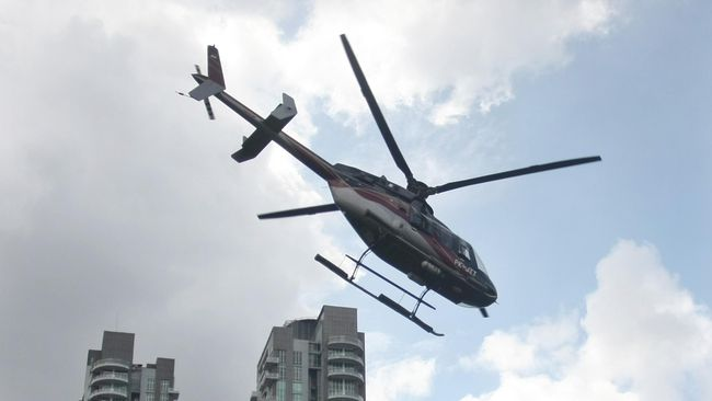Kini, Helikopter Jadi Sarana Transportasi Warga Jakarta