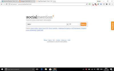 Social mention tool