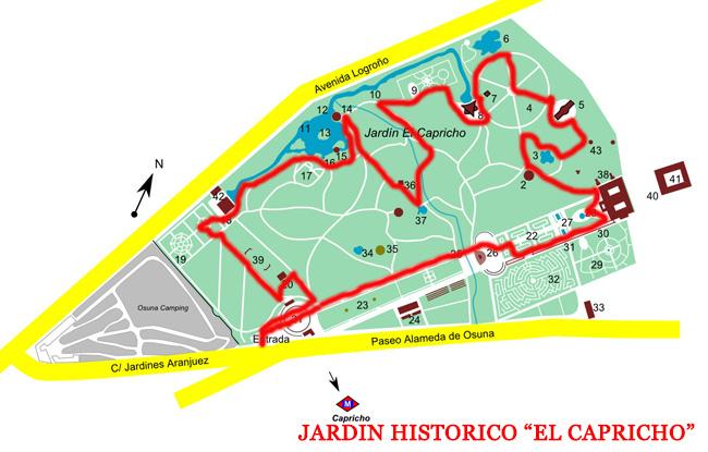 CAMINAR POR EL JARDIN ARTISTICO HISTORICO EL CAPRICHO