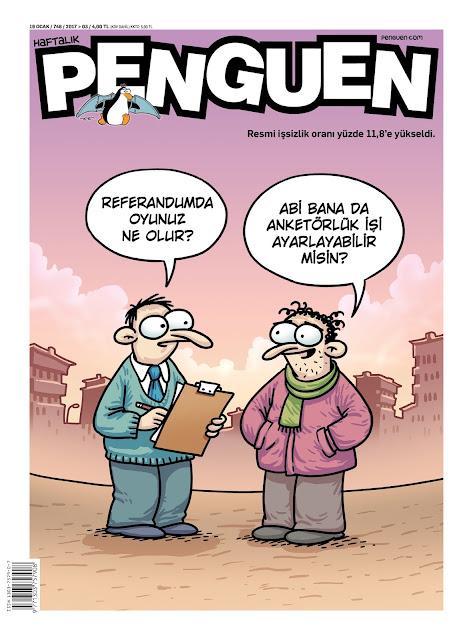 Penguen Dergisi | 19 Ocak 2017 Kapak Karikatürü