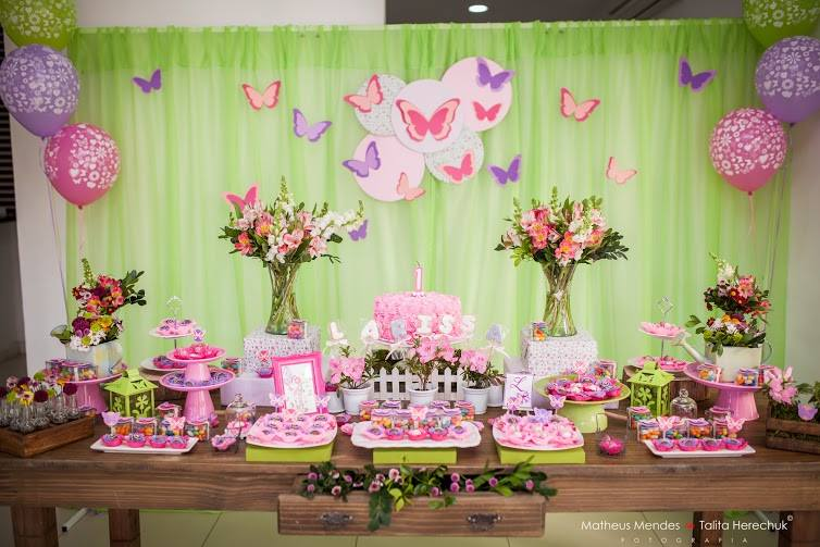 Pérolas e Perfumes 1º aniversário, Tema Jardim das Borboletas