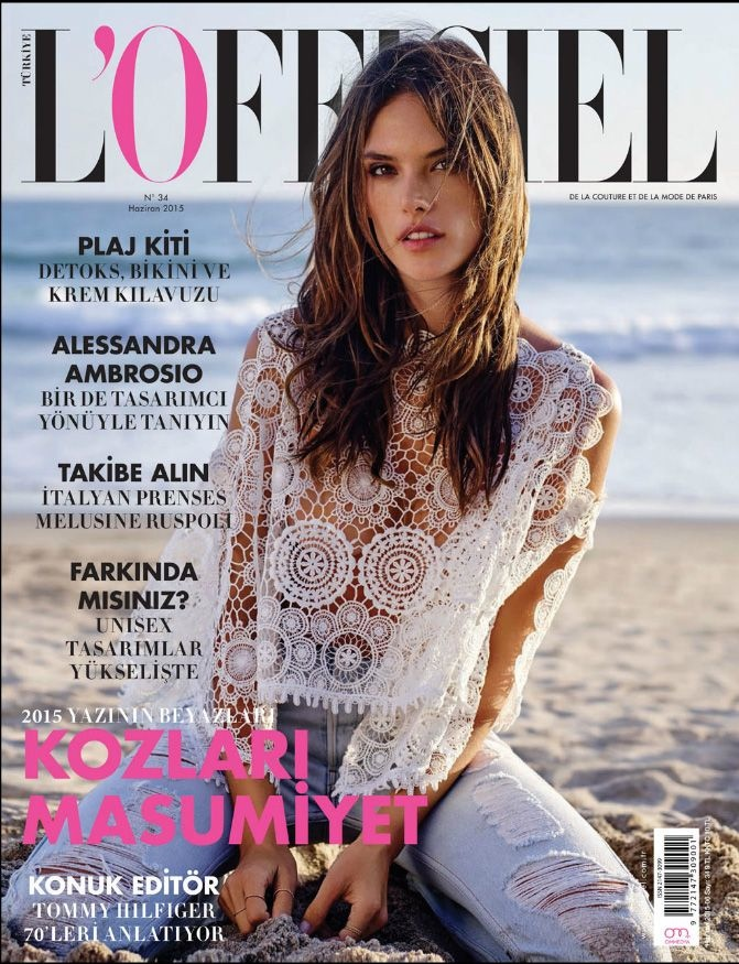Alessandra Ambrosio hits the beach for the L'Offciel Turkey cover shoot