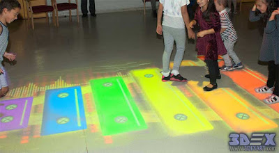 Interactive Floor Projection, interactive floor games for kids