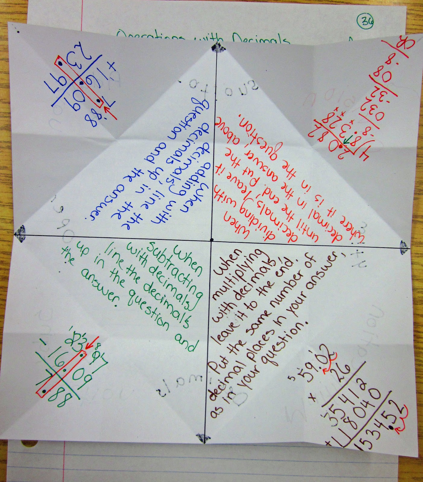 Operations With Decimals 6th Grade