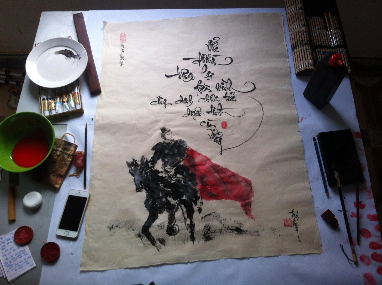 Liên hệ thư pháp Thanh Phong