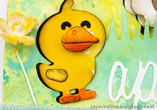 Layers of ink - Pastel Easter Tag Tutorial by Anna-Karin Evaldsson.